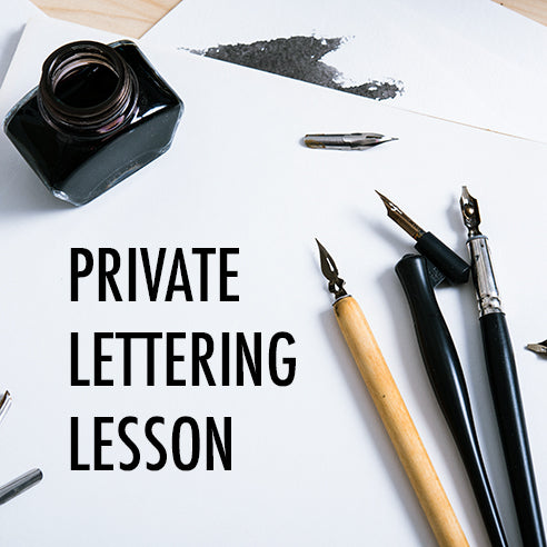 Private Lettering Lesson
