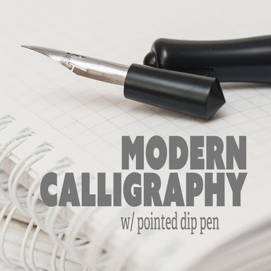 Modern Calligraphy with Pointed Dip Pen Class (online) - Sat. Dec. 12th (1:30-3:00pm) by K. A. Artist Shop Classroom - K. A. Artist Shop