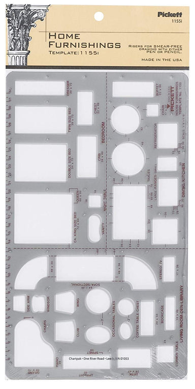 Pickett Home Furnishing Template - by Chartpak - K. A. Artist Shop