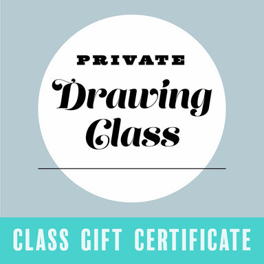 Gift Certificate for a Private Drawing Class - by K. A. Artist Shop Classroom - K. A. Artist Shop