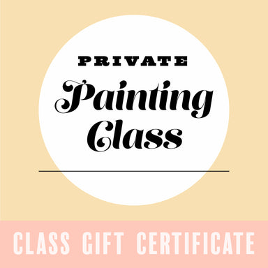 Gift Certificate for a Private Painting Class - by K. A. Artist Shop Classroom - K. A. Artist Shop