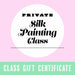 Gift Certificate for a Private Silk Painting Class - by K. A. Artist Shop Classroom - K. A. Artist Shop