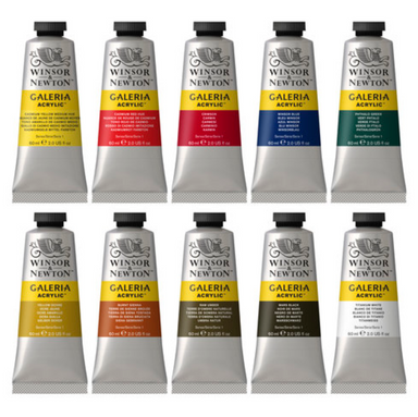 Winsor & Newton Galeria Acrylics - Set of 10 (60 ml) Tubes - by Winsor & Newton - K. A. Artist Shop