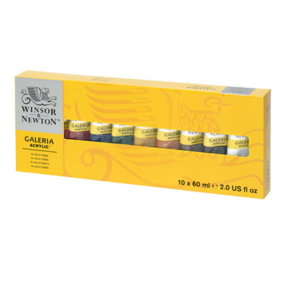 Winsor & Newton Galeria Acrylics - Set of 10 (60 ml) Tubes