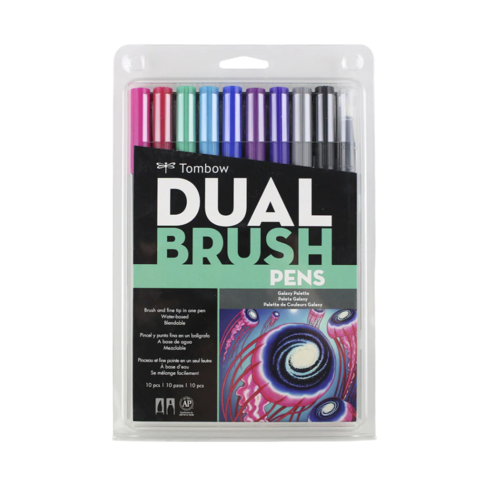 Tombow Dual Brush Pen and Artist Markers - Set of 10 - Galaxy Palette by Tombow - K. A. Artist Shop