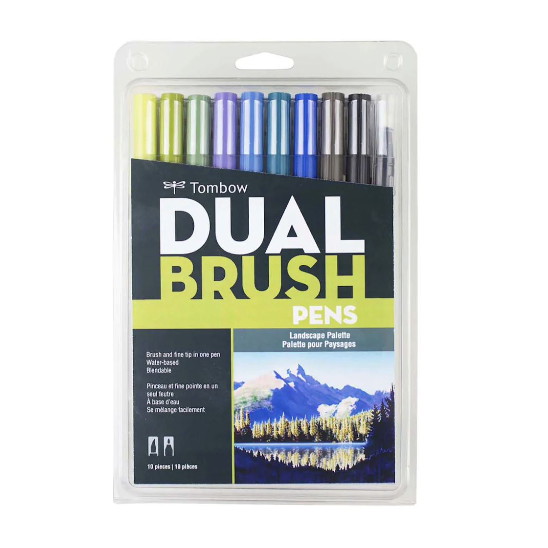 Tombow Dual Brush Pen and Artist Markers - Set of 10 - Landscape Palette by Tombow - K. A. Artist Shop