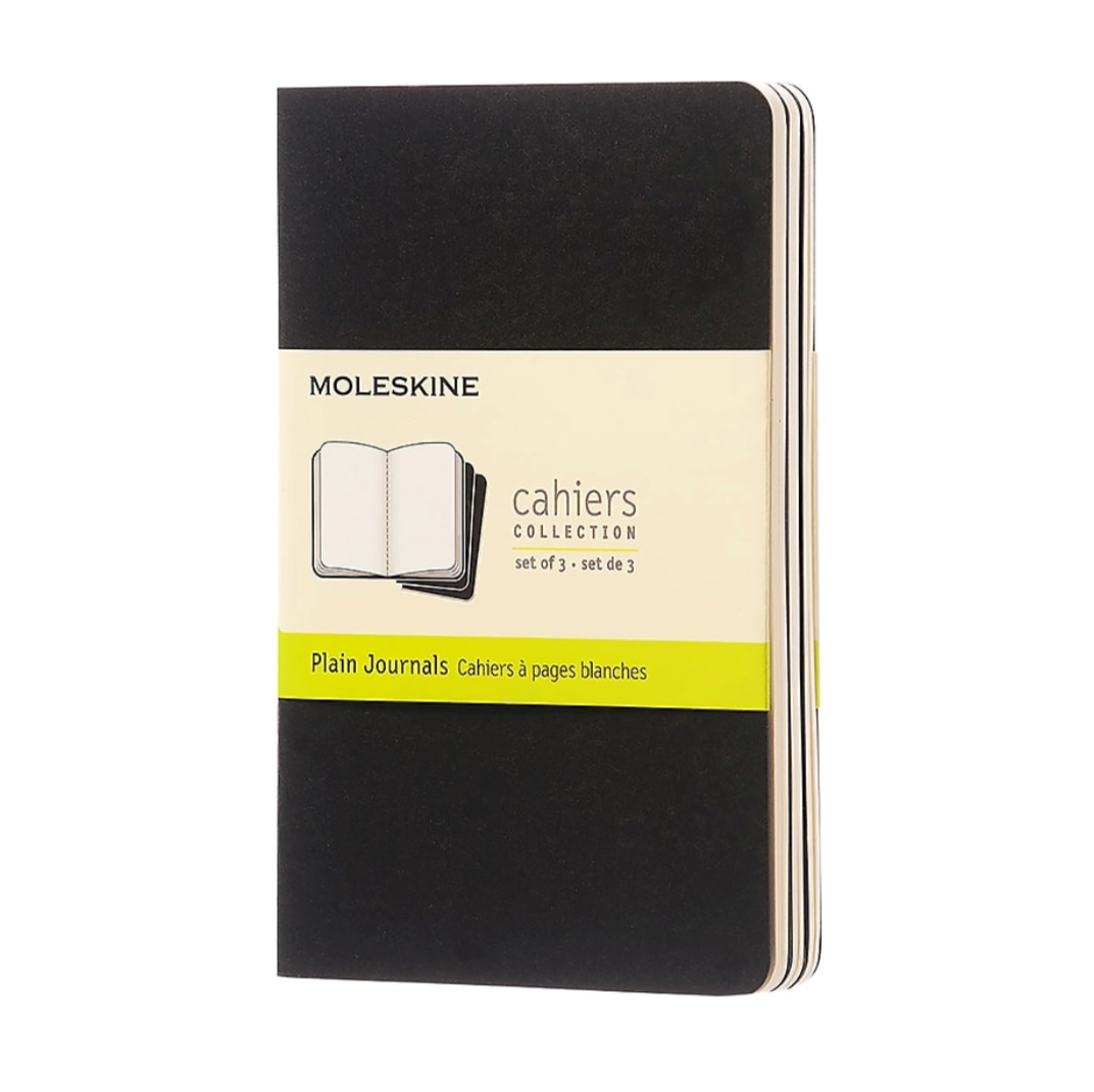 Moleskine Cahier Journals - 5 x 8.25 inches - Set of 3 Notebooks