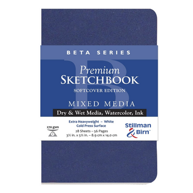 Beta Series Premium Mixed Media Sketchbook - Cold Pressed Surface - 3.5 x 5.5 inches by Stillman & Birn - K. A. Artist Shop