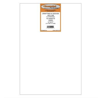 Clearprint Drafting & Design Vellum - 11 x 17 inches / Unprinted / 10 sheets/pack - by Clearprint - K. A. Artist Shop