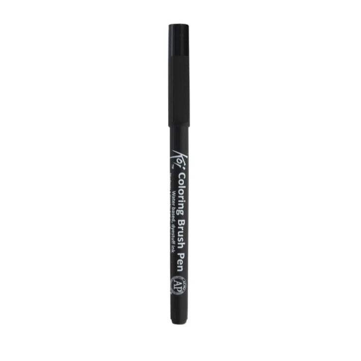 Koi Coloring Brush Pen - Black by Sakura - K. A. Artist Shop
