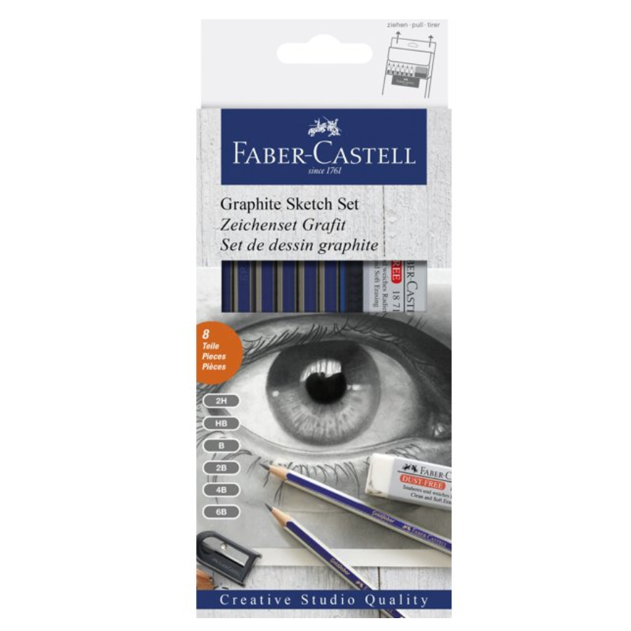 Faber-Castell Creative Studio - Graphite Sketch Set - by Faber-Castell - K. A. Artist Shop