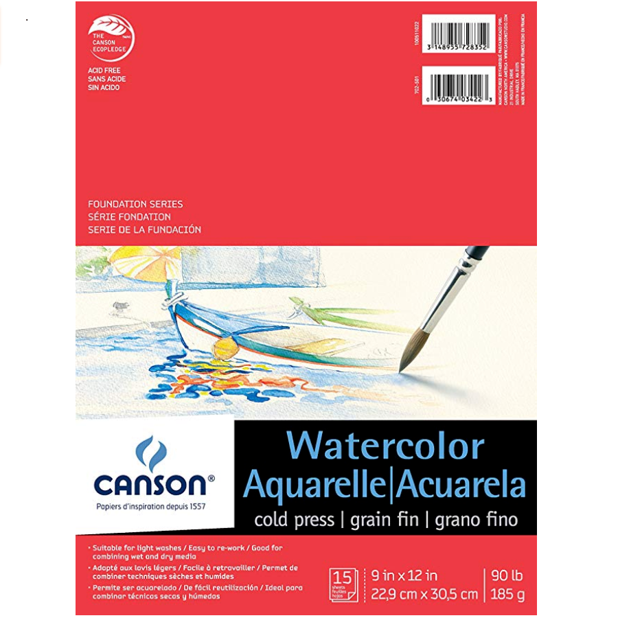 Canson Foundation Series Watercolor Pads - 15 Shts./Pad