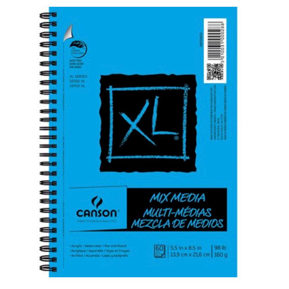 Canson XL Mix Media Sketchbooks - 5.5 x 8.5 inches - 60 Sheets by Canson - K. A. Artist Shop