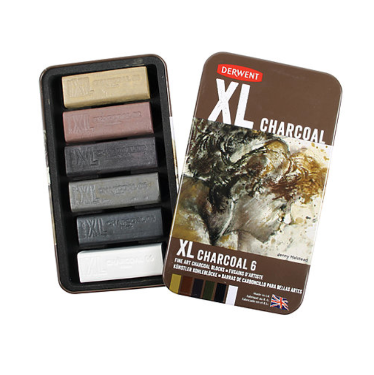 Derwent XL Charcoal 6/pack