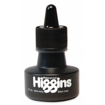 Higgins Waterproof India Ink - 1oz. Bottle w/ Eyedropper - by K. A. Artist Shop - K. A. Artist Shop