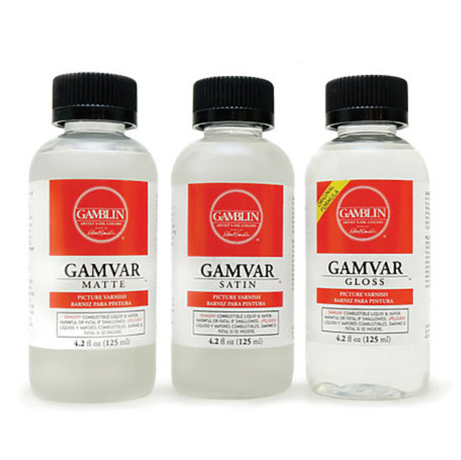 Gamblin Gamvar Picture Varnish - 4.2oz jars