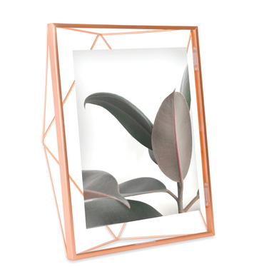 """Prisma"" Picture Frames in Copper by Umbra - 8 x 10 inches by Umbra - K. A. Artist Shop"