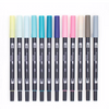 Tombow Dual Brush Pens - Double Sided Artist Markers - 12 New Colors