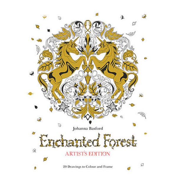 """Enchanted Forest Artist's Edition"" Coloring Book by Johanna Basford - by Chronicle Books - K. A. Artist Shop"
