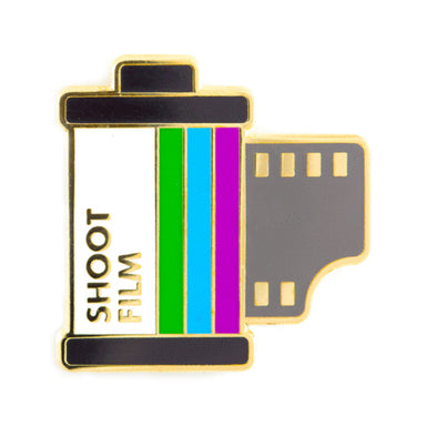 """Shoot Film"" Pin by These Are Things - by These Are Things - K. A. Artist Shop"