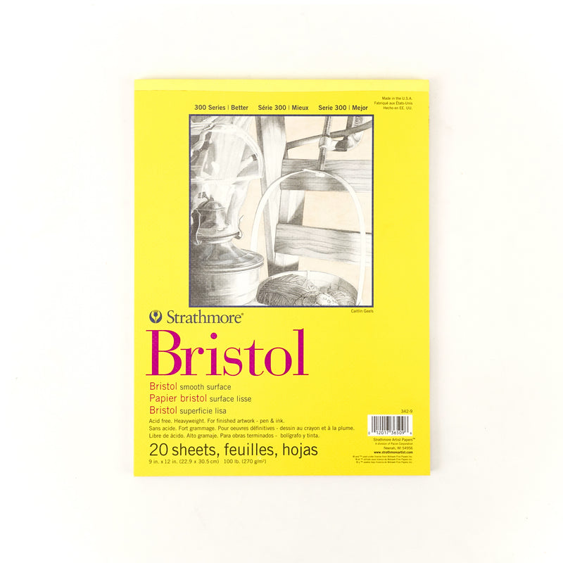 Strathmore Bristol Paper Pad - 300 Series - Smooth Surface