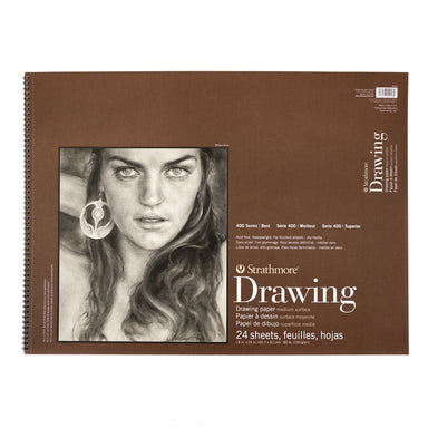 Strathmore Drawing Paper Pad - 400 Series - Medium / Large - 18 x 24 inches - Medium Surface by Strathmore - K. A. Artist Shop