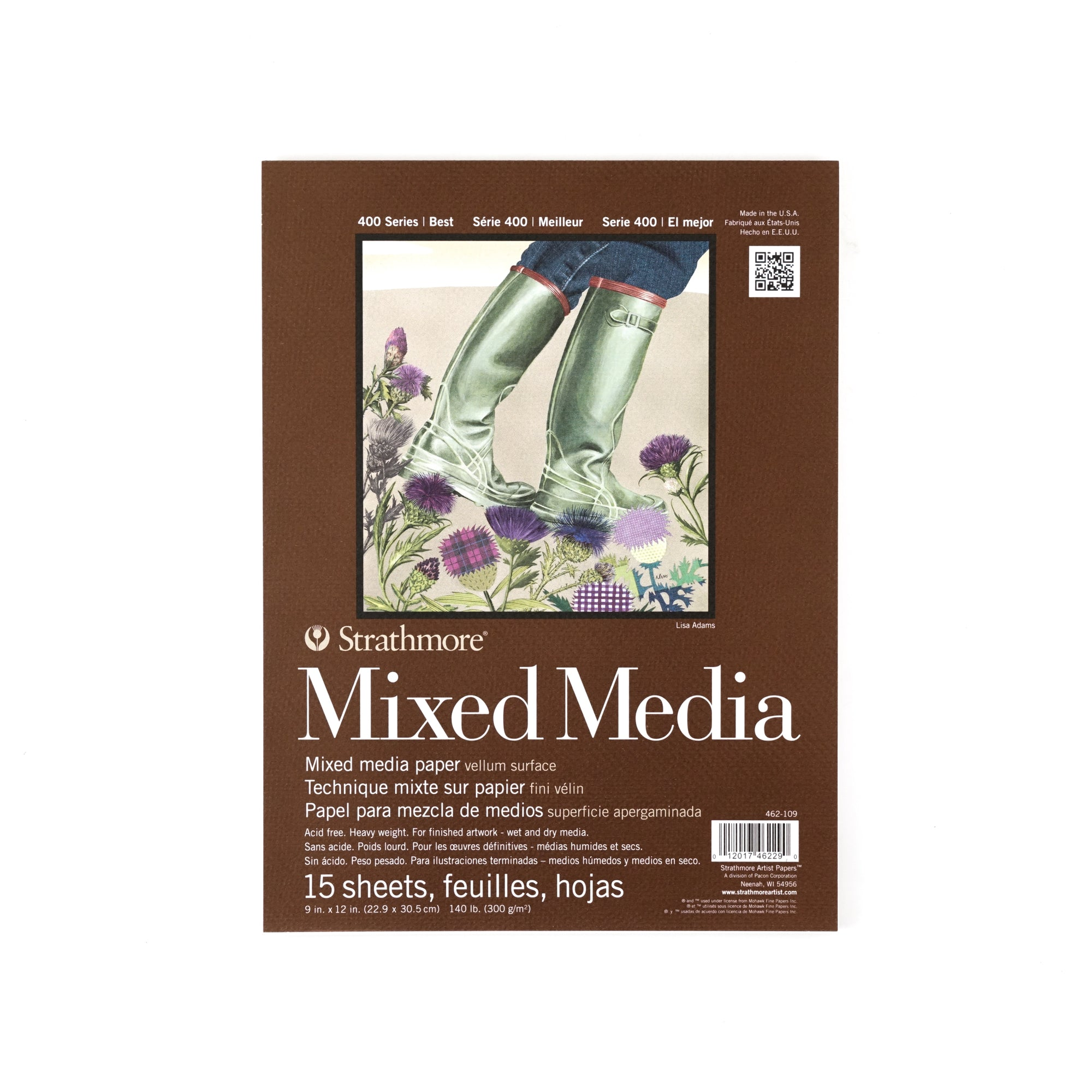Strathmore Mixed Media Paper Pad - 400 Series - Vellum Surface