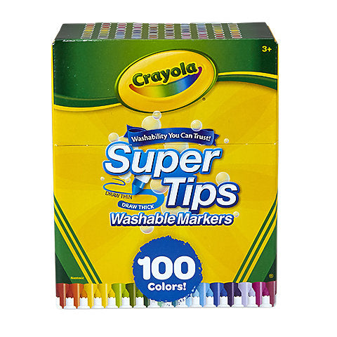 "Crayola ""Super Tips"" Washable Markers - 100/pack by Crayola - K. A. Artist Shop"