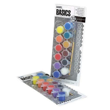 Liquitex BASICS 12-Color Acrylic Paint Pots Set - by Liquitex - K. A. Artist Shop