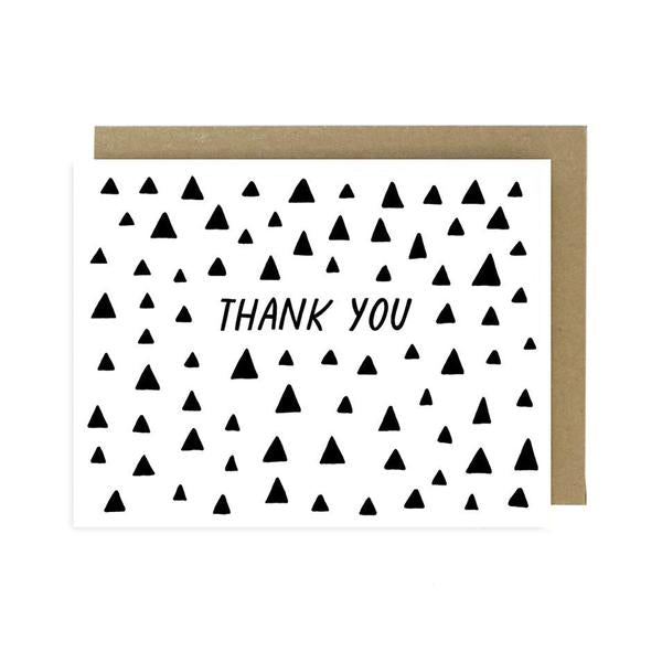 """Thank You"" Triangles Card by Worthwhile Paper"