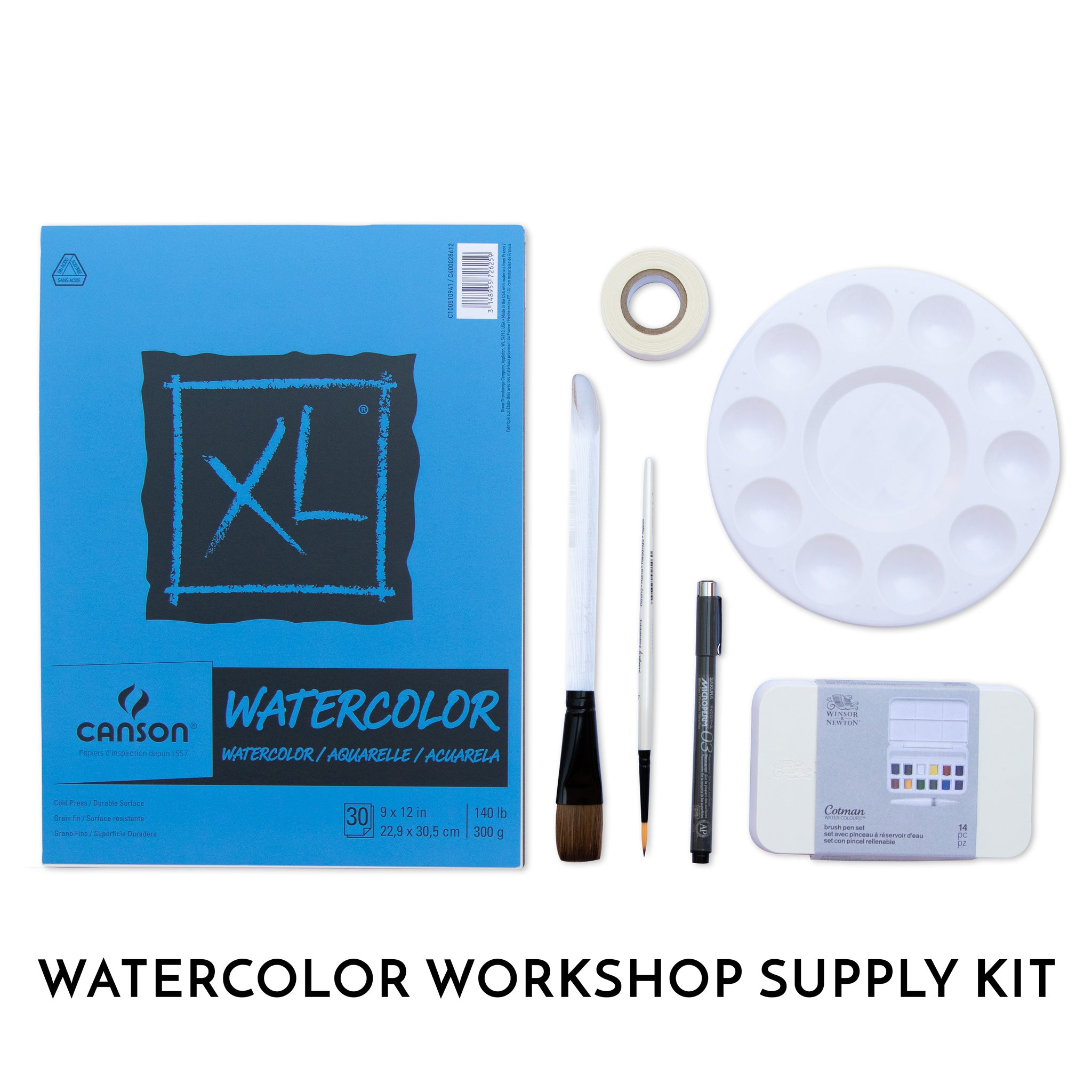 Supply Kit for Our Watercolor Workshops - by K. A. Artist Shop Classroom - K. A. Artist Shop