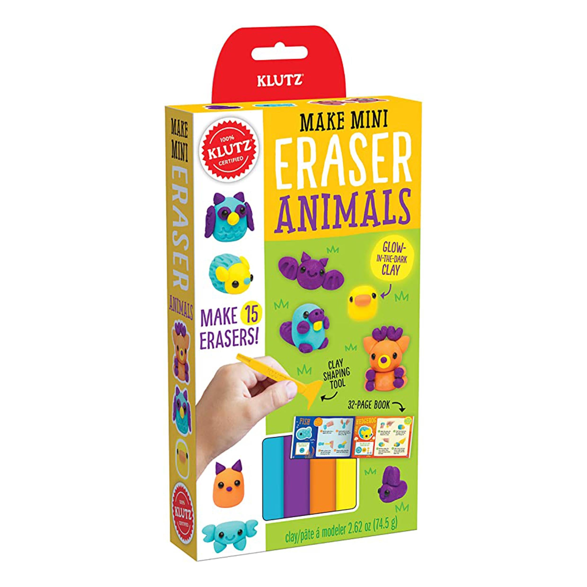 Make Mini Eraser Kits - Animals by Klutz - K. A. Artist Shop