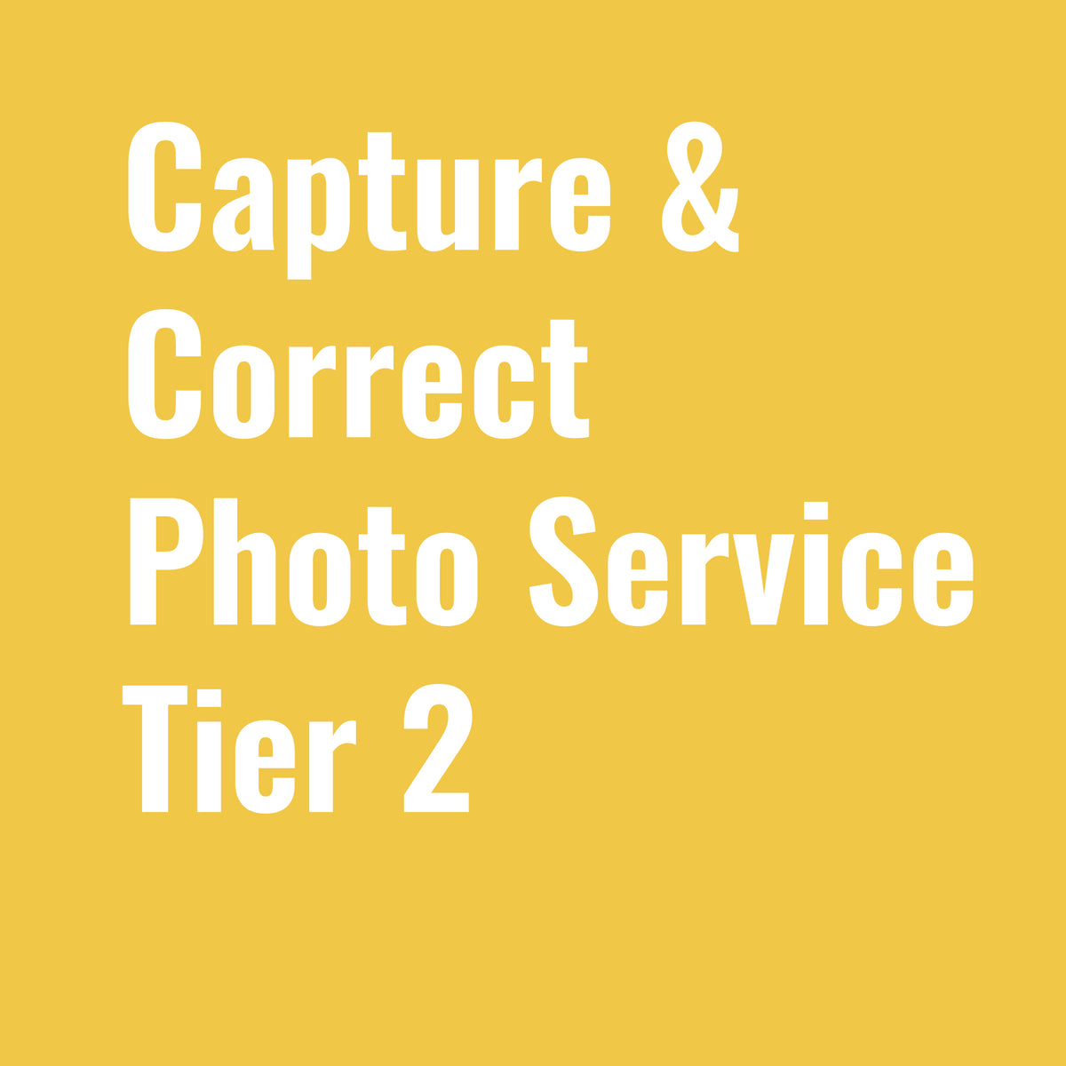 "Photo Service Tier 2 - ""Capture & Correct"""