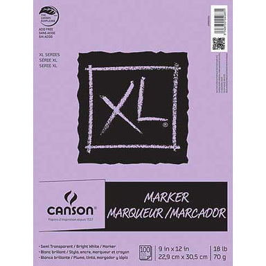 Canson XL Marker Pad - 9 x 12 inches - by Canson - K. A. Artist Shop