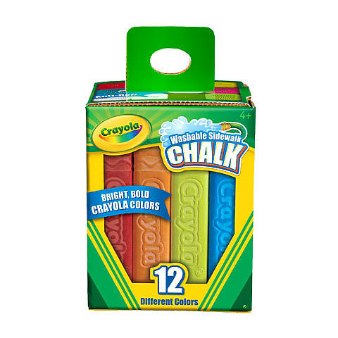 Crayola Sidewalk Chalk - Rainbow - by Crayola - K. A. Artist Shop