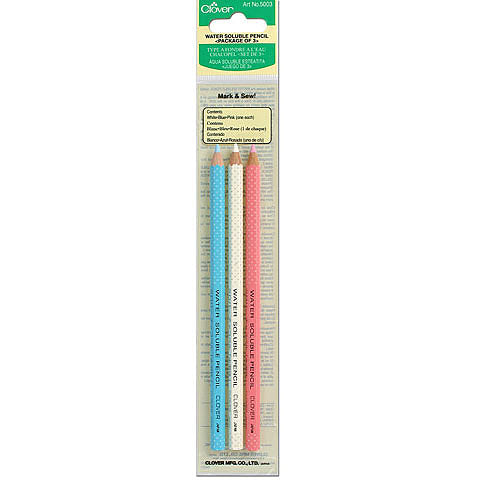 Clover Water Soluable Pencils - 3 pack