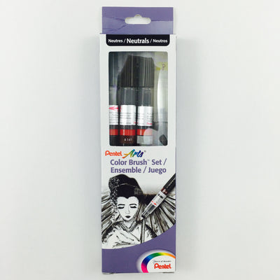 Pentel Arts Color Brush Set - Neutrals