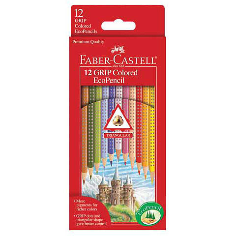 "Faber-Castell ""GRIP"" Colored EcoPencils - 12 pk - by Faber-Castell - K. A. Artist Shop"