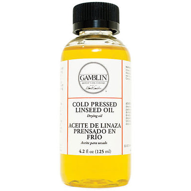 Gamblin Cold Pressed Linseed Oil - 8.5 oz. - by Gamblin - K. A. Artist Shop