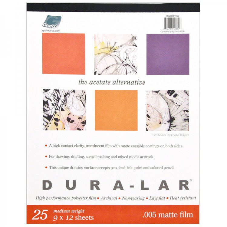 Grafix Dura-Lar Pads - .005 Matte Film - 14 x 17 inches