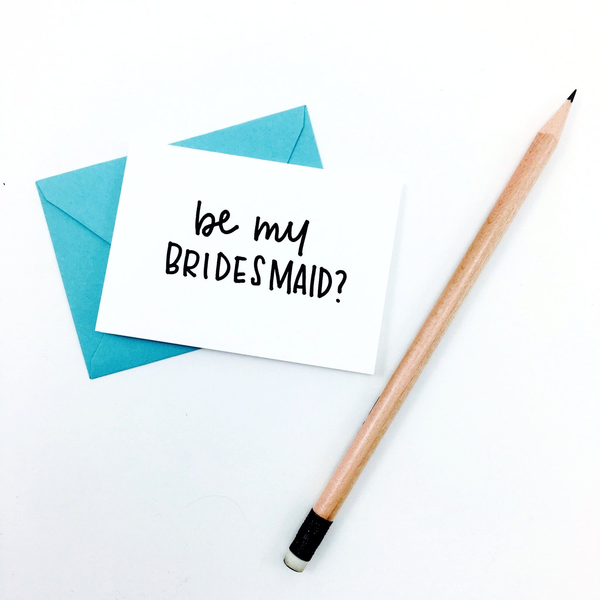 """Be My Bridesmaid?"" Mini Hand-Drawn Greeting Card by KA"