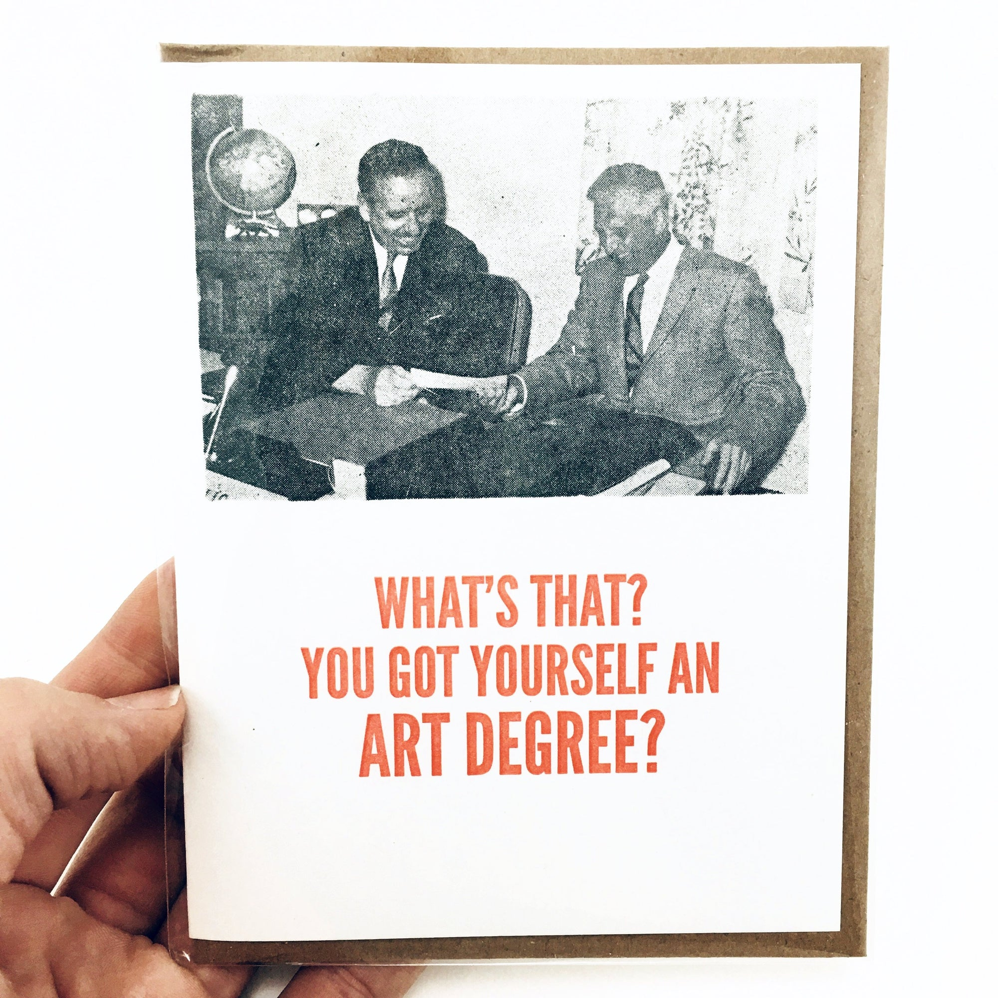 """Art Degree"" Greeting Card by Power and Light Press"