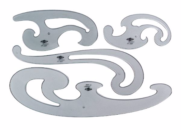 Alvin French Curve Set of 4