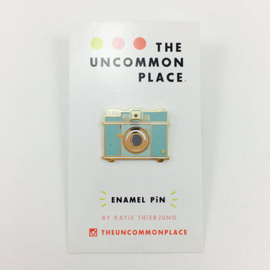 The Uncommon Place Enamel Pins by Katie Thierjung - Camera by The Uncommon Place - K. A. Artist Shop