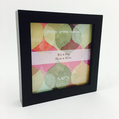 Wood Shadow Box Frame in Black by MCS