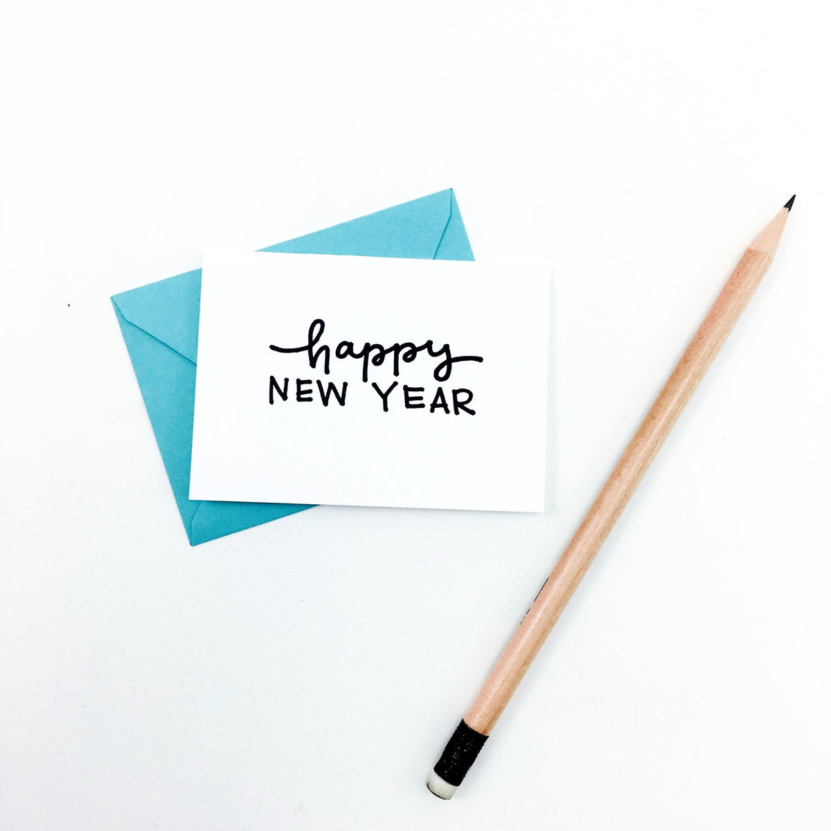 """Happy New Year"" Mini Hand-Drawn Greeting Card"