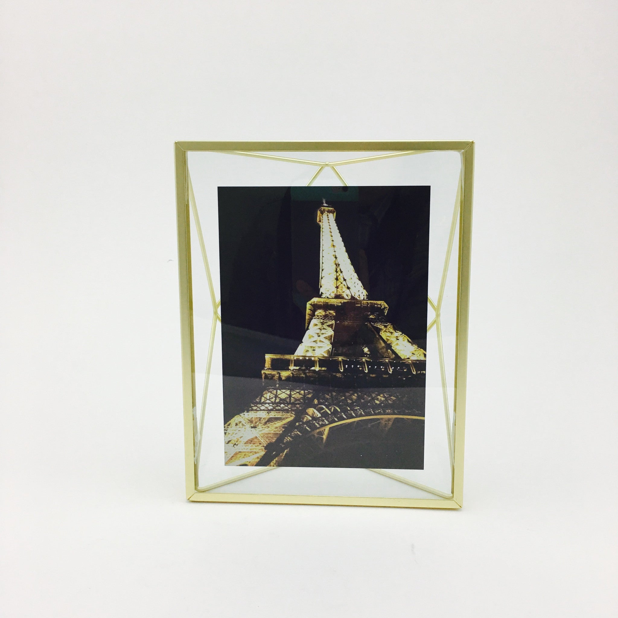 """Prisma"" Picture Frames in Matte Brass by Umbra - 5 x 7 inches by Umbra - K. A. Artist Shop"