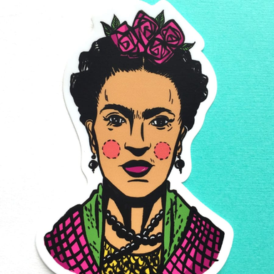 Culture Flock Frida Sticker - by Culture Flock - K. A. Artist Shop
