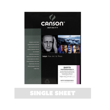 Canson Infinity Baryta Photographique Printer Paper - Single Sheet - 17 x 22 inches by Canson - K. A. Artist Shop
