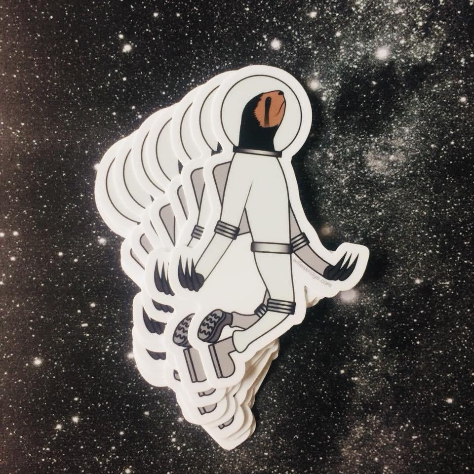Space Sloth Stickers by Will Eskridge